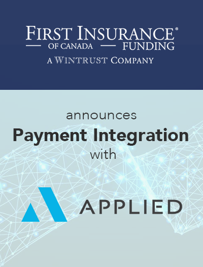 FIRST Canada and Applied Systems Announce Payment Integration
